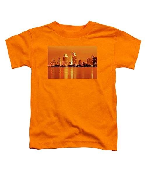 Bronze San Diego Skyline Toddler T-Shirt