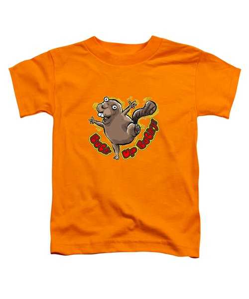 Buck Up Bucky Toddler T-Shirt by Chas Sinklier