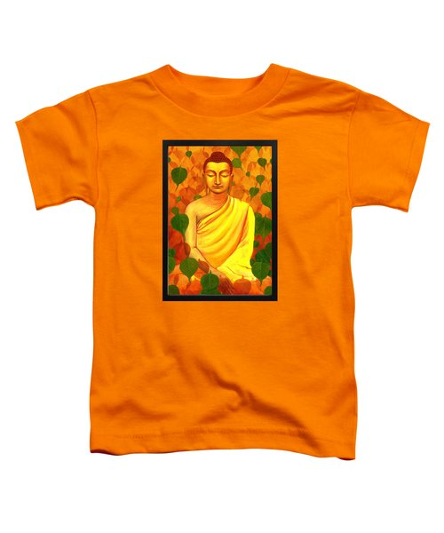 Buddha In Green Leaves Toddler T-Shirt