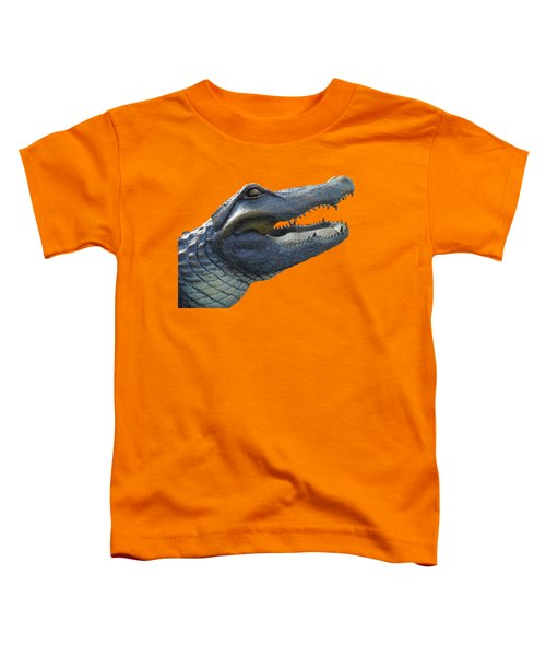 Bull Gator Portrait Transparent For T Shirts Toddler T-Shirt by D Hackett