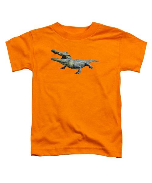 Bull Gator Transparent For T Shirts Toddler T-Shirt by D Hackett