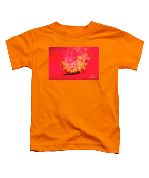 Burning Red Hot Chili Pepper. Mexican Food Toddler T-Shirt