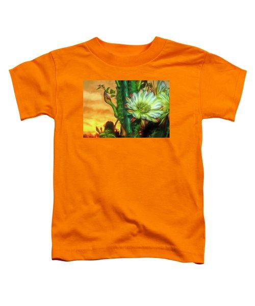 Cactus Flower At Sunrise Toddler T-Shirt