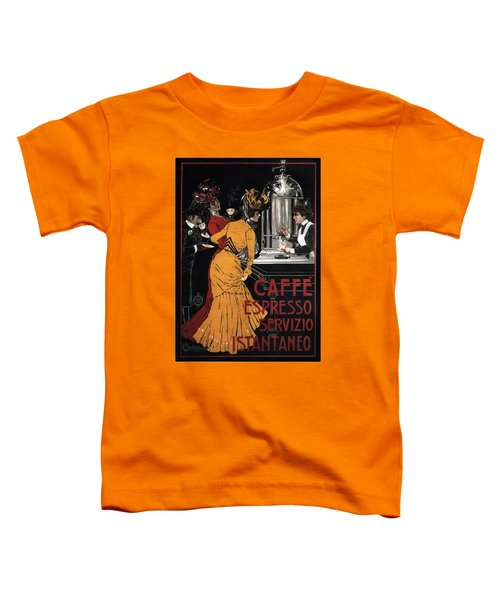Caffe Espresso Servizio Istantaneo - Vintage Advertising Poster Toddler T-Shirt