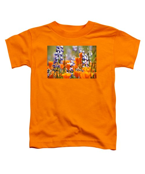 California Poppies And Lupine Toddler T-Shirt
