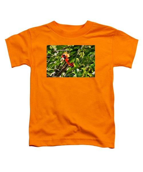 Cardinal In Tree Toddler T-Shirt