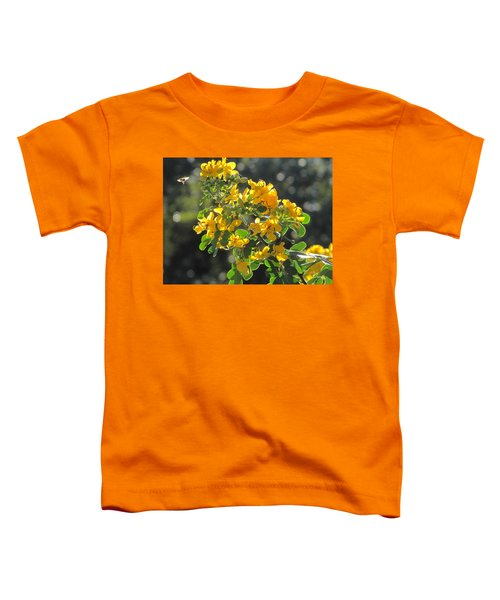 Catchlight Bee Over Yellow Blooms Toddler T-Shirt