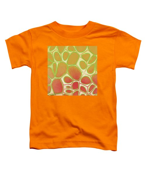 Cells Abstract Five Toddler T-Shirt by Edward Fielding