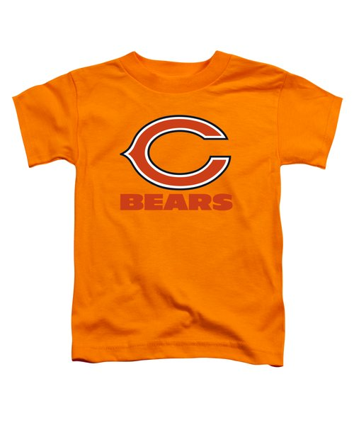 Chicago Bears On An Abraded Steel Texture Toddler T-Shirt