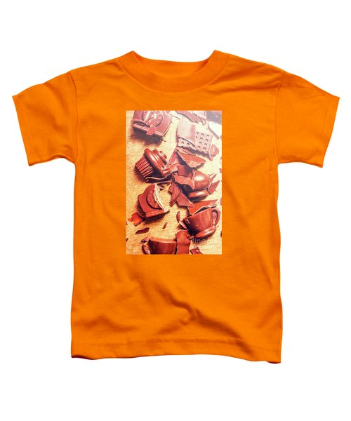 Chocolate Tableware Destruction Toddler T-Shirt