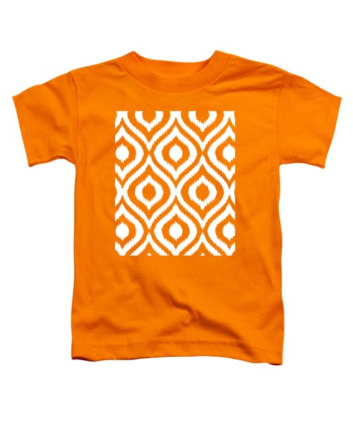 Circle And Oval Ikat In White N03-p0100 Toddler T-Shirt