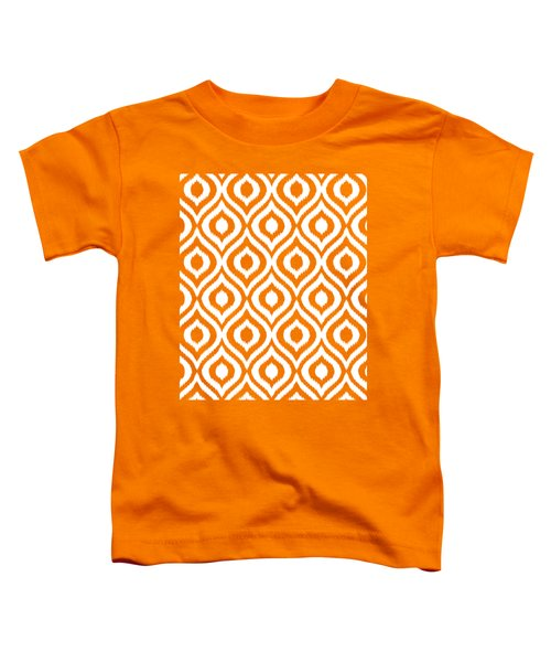 Circle And Oval Ikat In White N05-p0100 Toddler T-Shirt