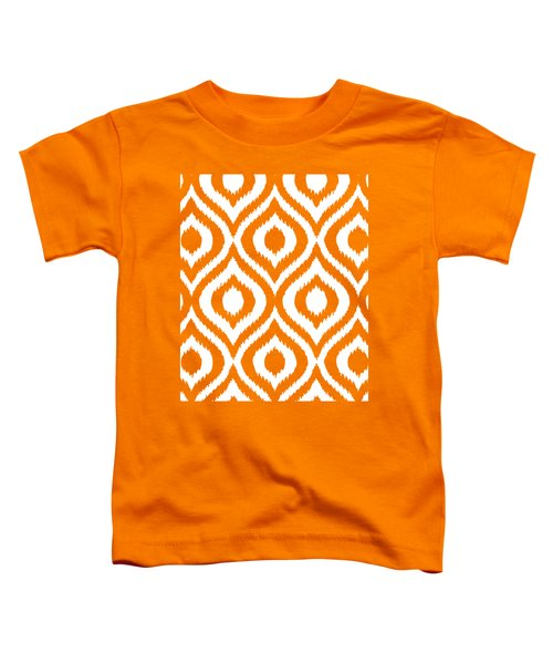Circle And Oval Ikat In White T03-p0100 Toddler T-Shirt