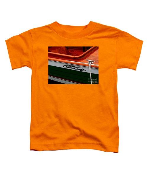 Classic Chris Craft Sea Skiff Toddler T-Shirt
