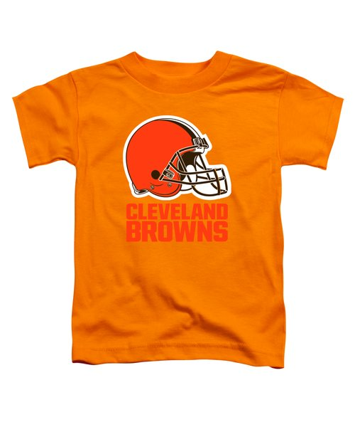 Cleveland Browns On An Abraded Steel Texture Toddler T-Shirt