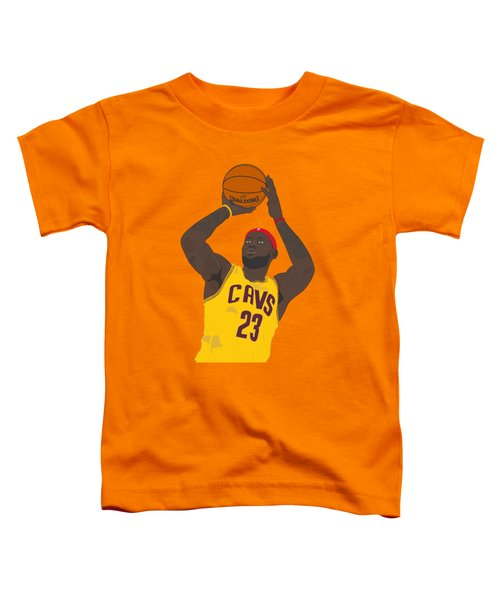 Cleveland Cavaliers - Lebron James - 2014 Toddler T-Shirt by Troy Arthur Graphics