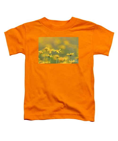 Close Up Of Yellow Flower With Blur Background Toddler T-Shirt