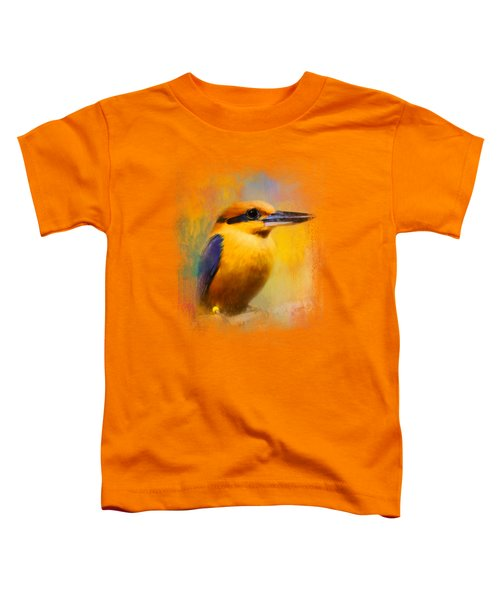 Colorful Expressions Kingfisher Toddler T-Shirt by Jai Johnson