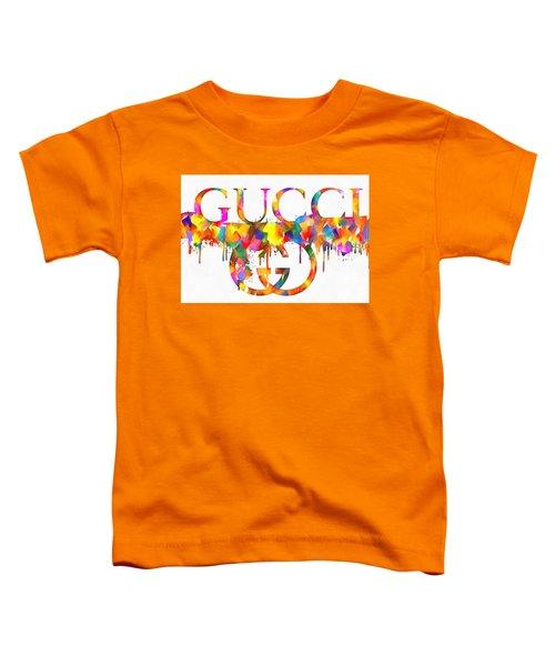Colorful Gucci Paint Splatter Toddler T-Shirt