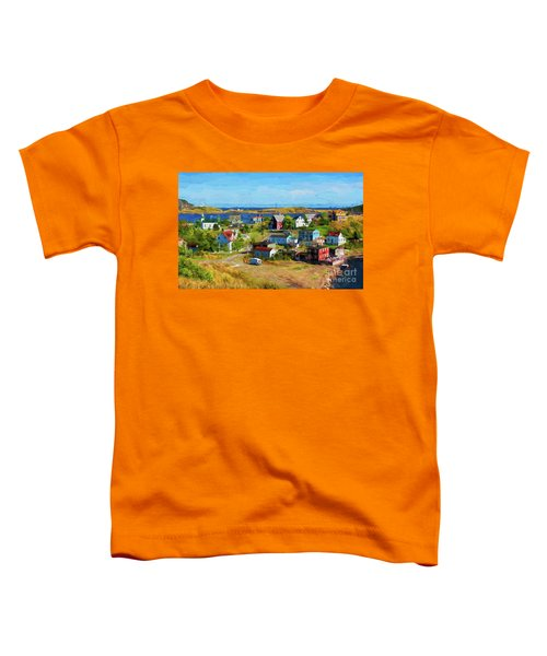 Colorful Homes In Trinity, Newfoundland - Painterly Toddler T-Shirt