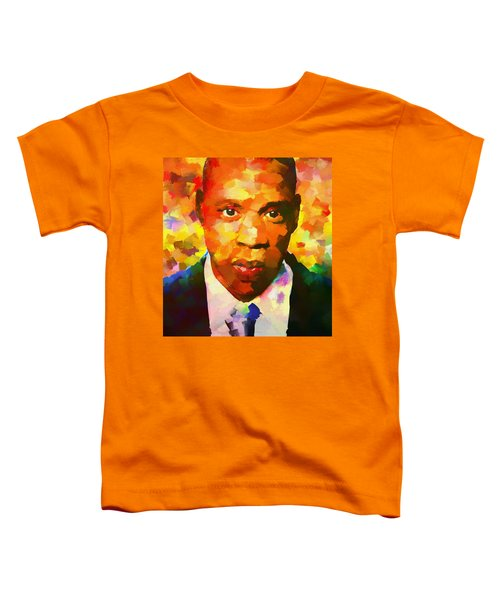 Colorful Jay Z Palette Knife Toddler T-Shirt by Dan Sproul