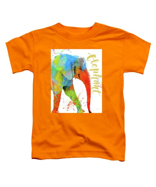 Colorful Safari Animals C Toddler T-Shirt