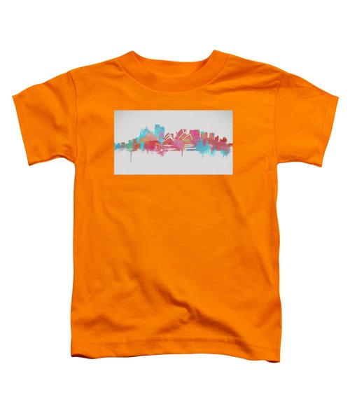 Colorful Sydney Skyline Silhouette Toddler T-Shirt by Dan Sproul