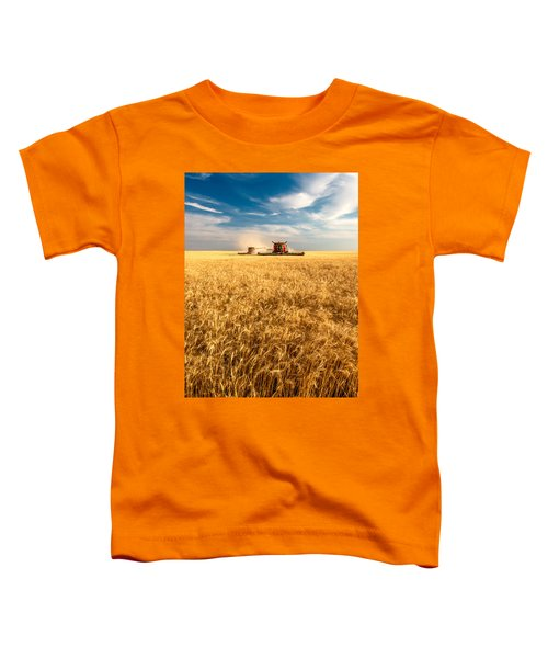 Combines Cutting Wheat Toddler T-Shirt