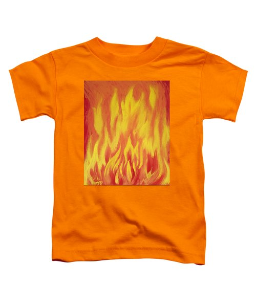 Toddler T-Shirt featuring the painting Consuming Fire by Antonio Romero