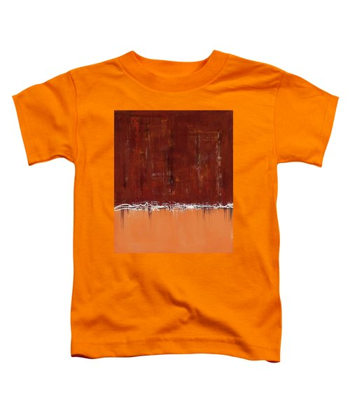 Copper Field Abstract Painting Toddler T-Shirt