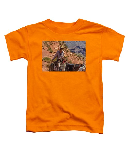 Cowgirl Leading A Mule Train On The South Kaibab Trail Toddler T-Shirt