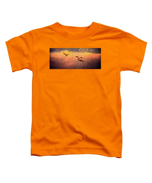 Cranes Lifting Into The Sky Toddler T-Shirt
