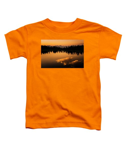 Toddler T-Shirt featuring the photograph Crater Lake Sunset by Whit Richardson