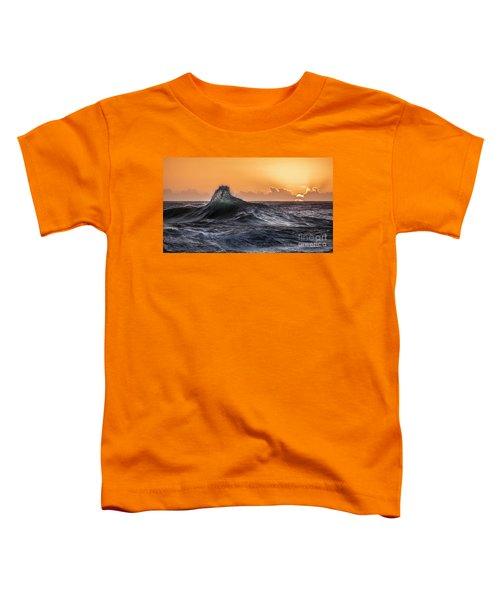 Crystal Wave Sunset Napali Coast Kauai Hawaii Toddler T-Shirt