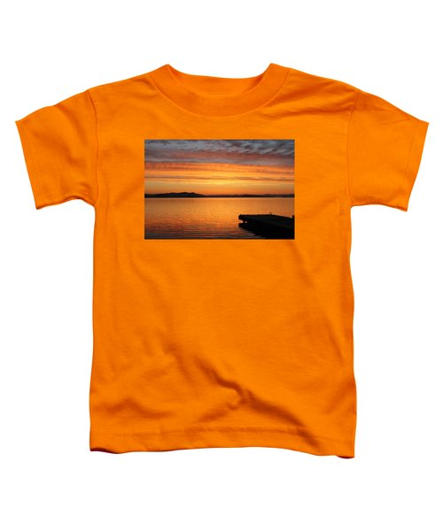 Dawn In The Sky At Dusavik Toddler T-Shirt