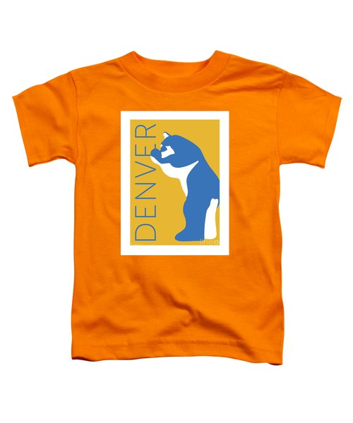 Denver Blue Bear/gold Toddler T-Shirt