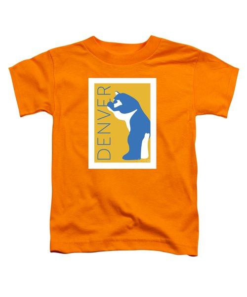 Denver Blue Bear/gold Toddler T-Shirt