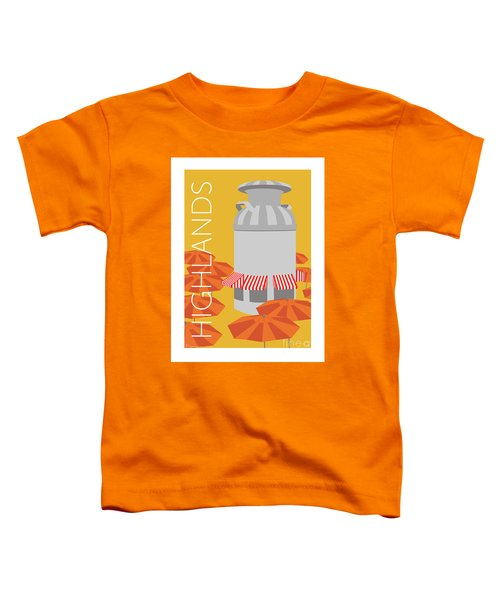 Denver Highlands/gold Toddler T-Shirt