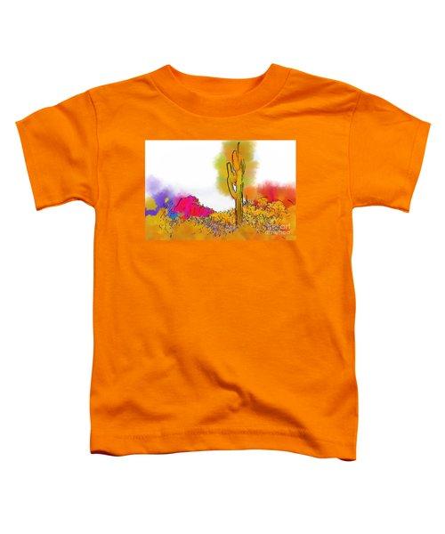 Desert Saguaro In Subtle Abstract Toddler T-Shirt