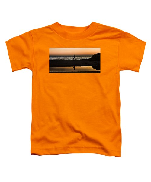 Dog Walker At Sunset Toddler T-Shirt