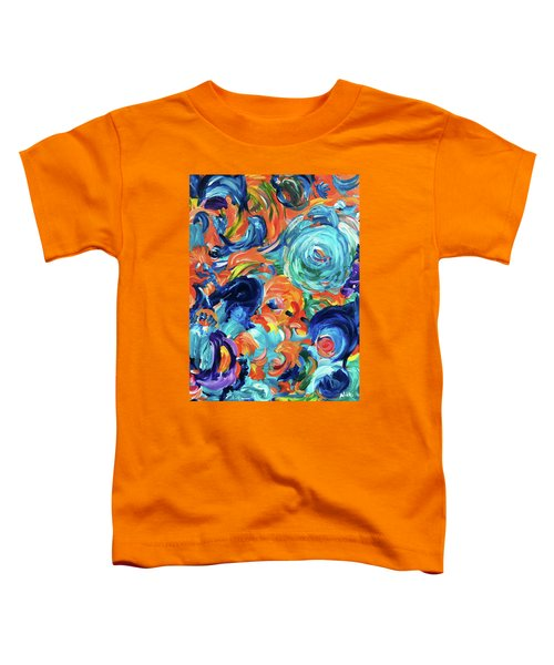 Dolphins Playing In Peonies Toddler T-Shirt