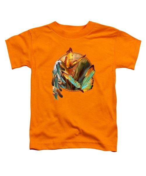 Dream Catcher - Spirit Of The Butterfly Toddler T-Shirt