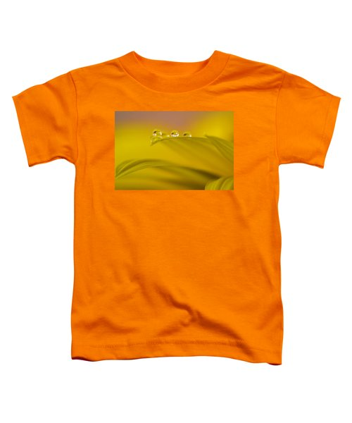 Drops Resting On A Leaf Toddler T-Shirt