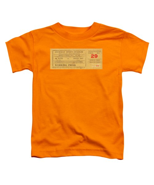 Dyckman Oval Ticket Toddler T-Shirt by Cole Thompson