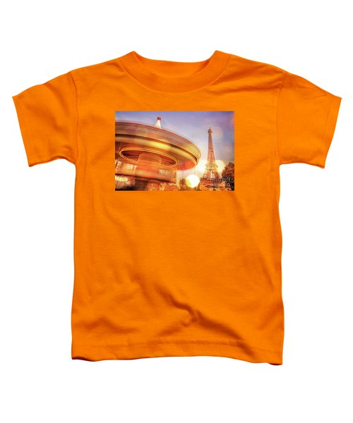 Eiffel Tower Carousel Toddler T-Shirt
