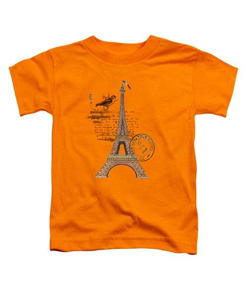 Eiffel Tower T Shirt Design Toddler T-Shirt by Bellesouth Studio