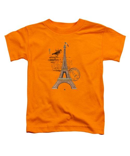 Eiffel Tower T Shirt Design Toddler T-Shirt