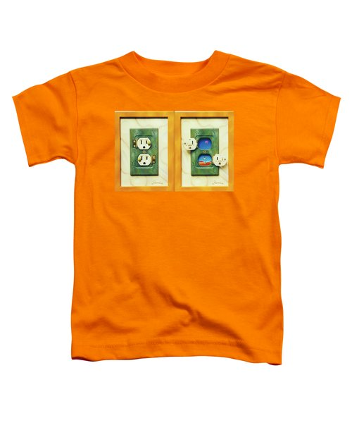 Electric View Miniature Shown Closed And Open Toddler T-Shirt