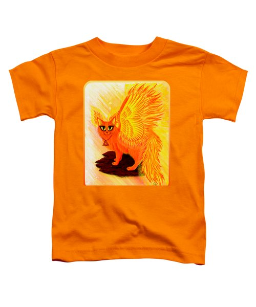 Elemental Fire Fairy Cat Toddler T-Shirt by Carrie Hawks
