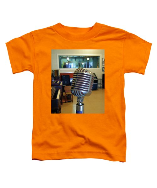 Toddler T-Shirt featuring the photograph Elvis Presley Microphone by Mark Czerniec